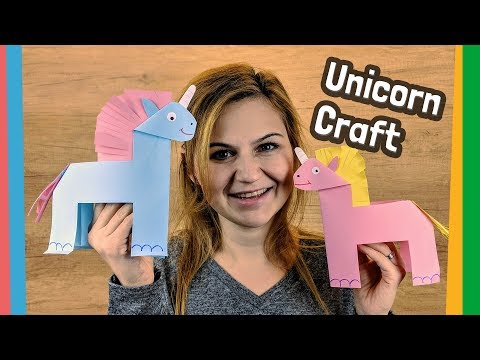 Paper Unicorn craft easy DIY for kids