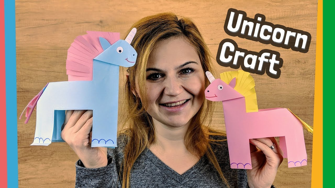 Paper Unicorn Craft Easy Diy For Kids Youtube