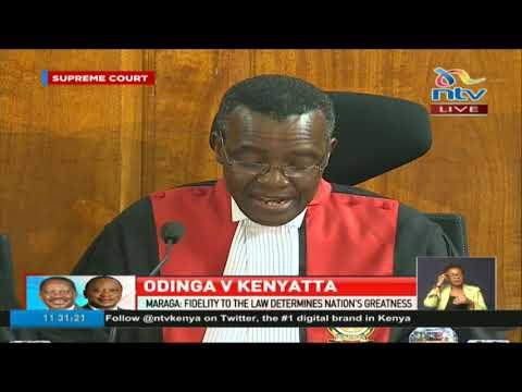 CJ David Maraga reads the determination of the Supreme Court majority