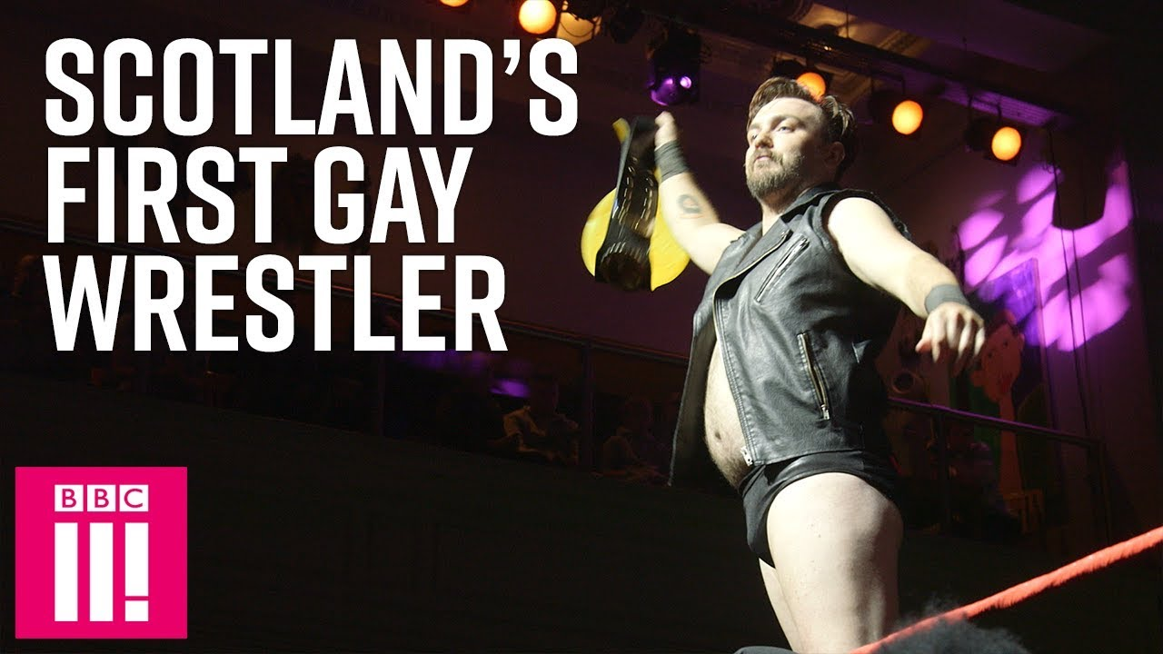 Gay leather wrestlers