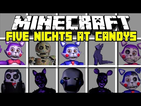 Minecraft FIVE NIGHTS AT CANDY'S MOD / CANDY, CINDY, BLANK, THE PENGUIN !! Minecraft Mods