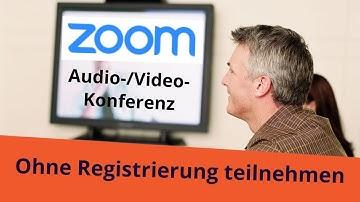 Am ZOOM Meeting teilnehmen ohne Registrierung bei ZOOM - so geht´s