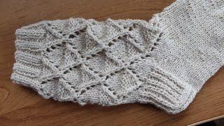 оля бартова вязание ажурных носков видео