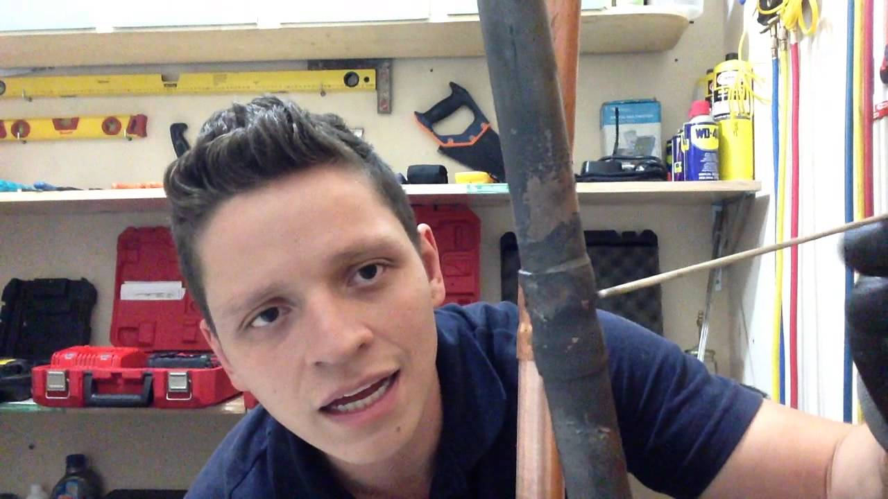 Soldando tubo de cobre como soldar tubo de cobre youtube for Como soldar cobre