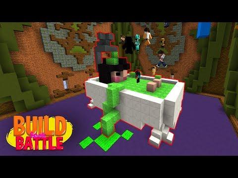 MINECRAFT SLIME VS REAL SLIME Minecraft Build Battle