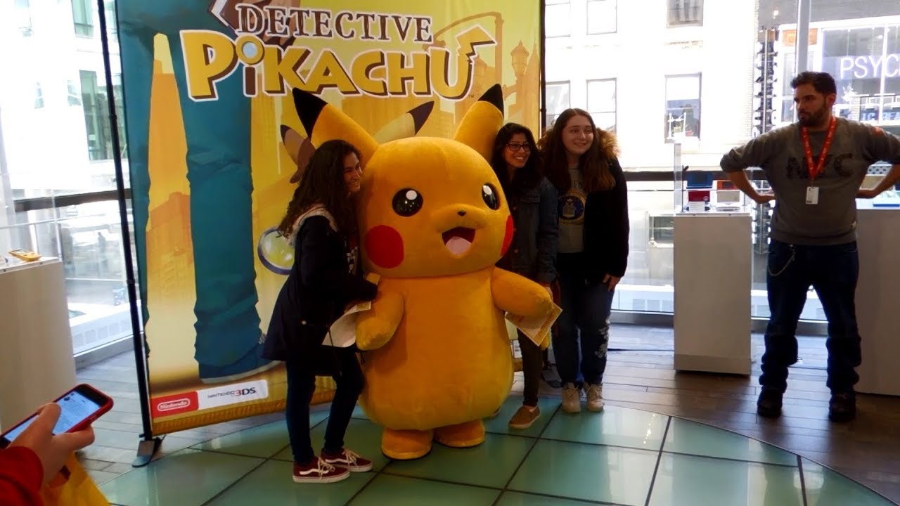 Detective Pikachu Launch Event at Nintendo NY