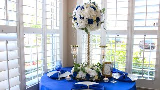 DIY Crystal Bling Royal Wedding Centerpiece