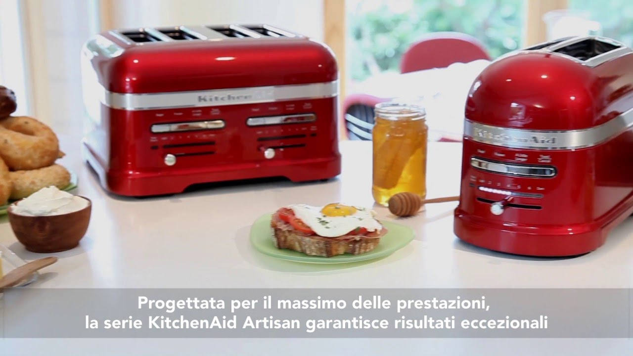 TOSTAPANE KITCHENAID ARTISAN A 2/4 SCOMPARTI 5KMT2204 5KMT4205 - YouTube