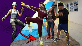 DANCING FORTNITE IN REAL LIFE