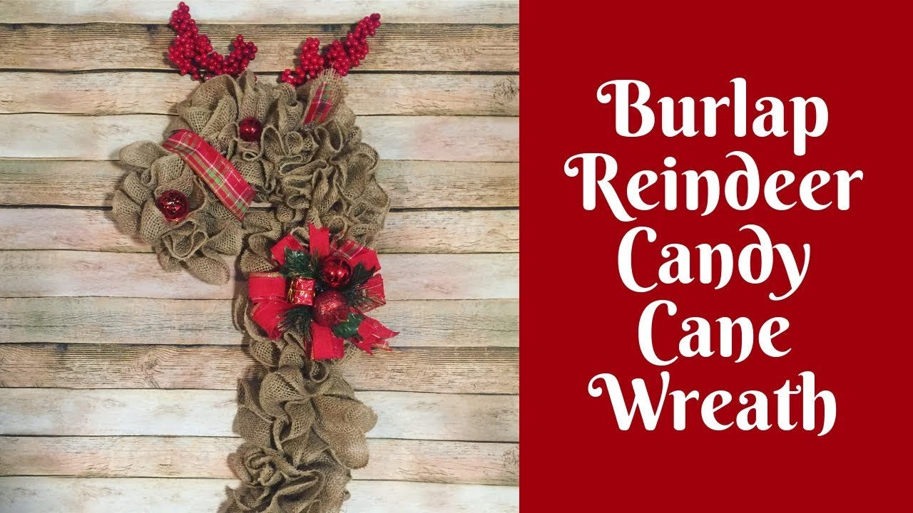 Christmas Crafts Burlap Reindeer Wreath Youtube