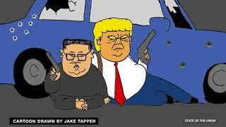 CNN Karikatür - Trump ve Kim Jong Un Filmleri Yapma - 6.17.18