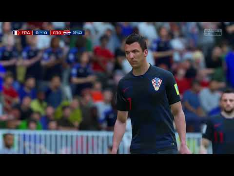 World Cup 2018 Finals France vs Croatia Full Match Sim Quick Look (FIFA 18 World Cup)
