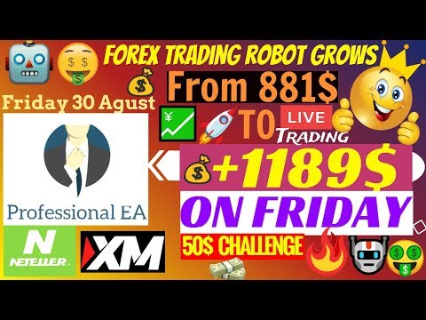 🔴 ✅ Forex Trading EA Makes Live Profitable Account Grow +1189$ On A Friday!!!🤑 | Professional EA