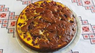 Брауни рецепт с вишней и творогом Шоколадный брауни Brownie recipe Брауні рецепт з вишнями та сиром