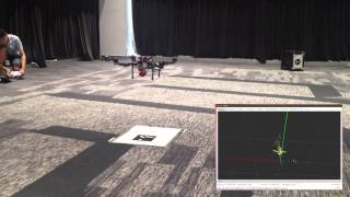 Precise Quadrotor Autonomous Landing with SRUKF Vision Perception