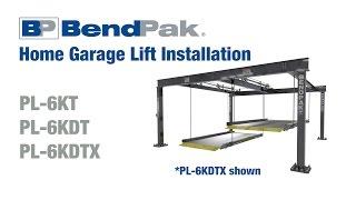 BendPak Home Garage Car Lift Installation