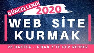 Web Sitesi Kurmak - Adım Adım 25 Dk Anlatım - 2019