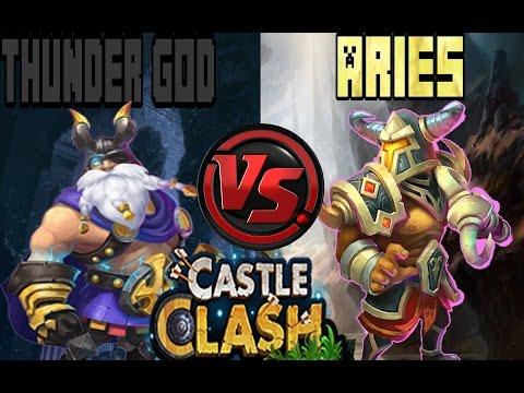  CASTLE CLASH  ARIES VS THUNDER GOD