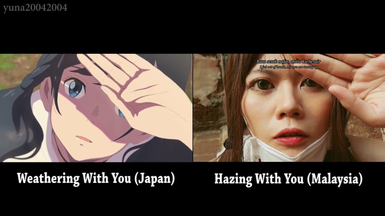 Weathering With You Tenki No Ko Vs Hazing With You Trailer Side By Side Comparison Subbed Youtube