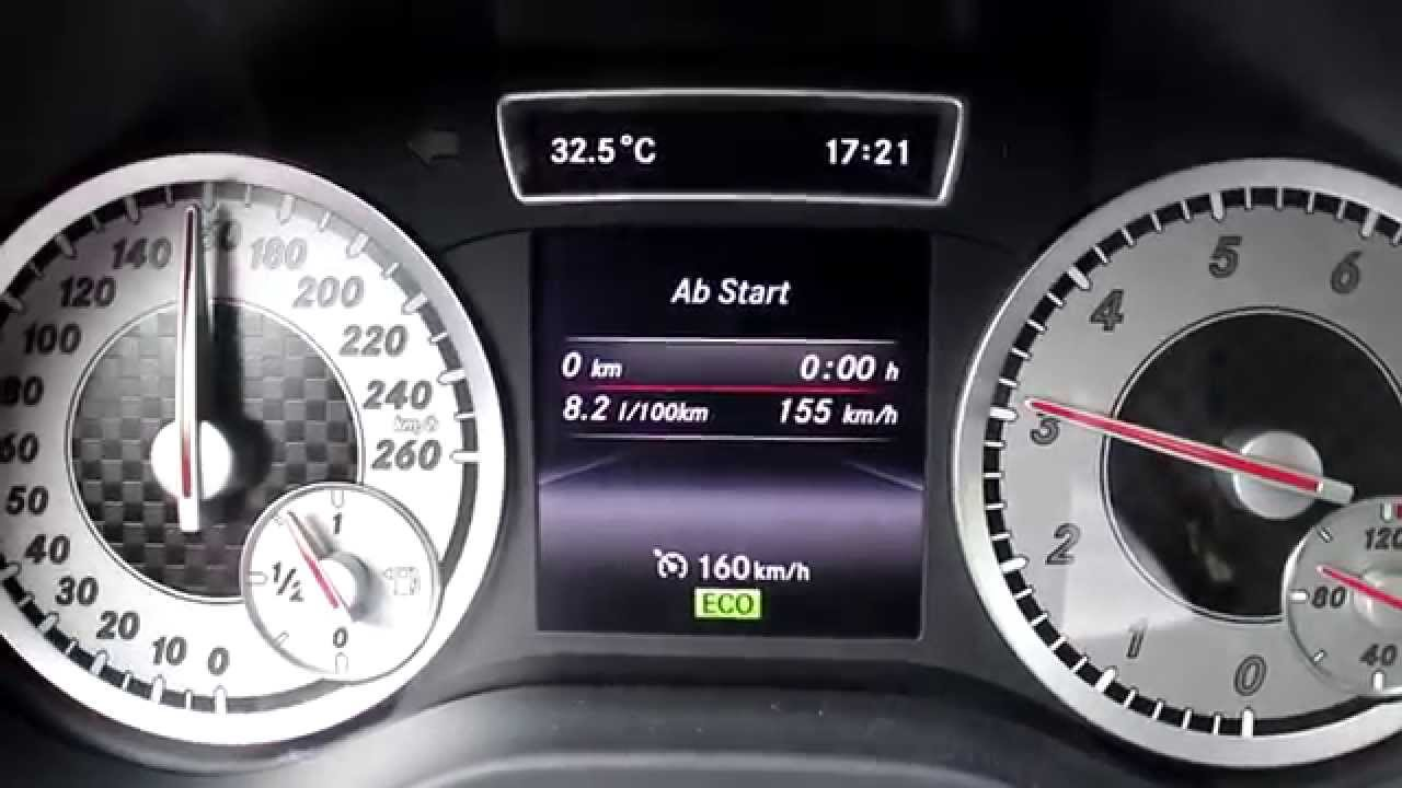 mercedes-benz a 200 fuel consumption / verbrauch konstante fahrt