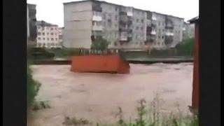 Наводнение в Магадане 23.07.2014
