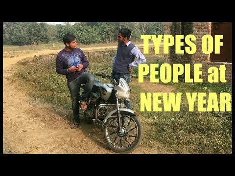 TYPES OF PEOPLE AT NEW YEAR ||Hilla Tait||