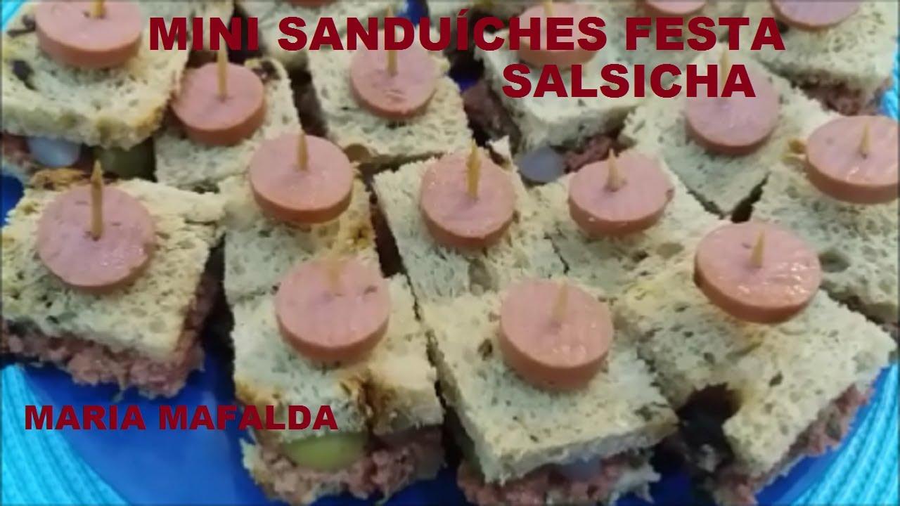 Mini Sanduiches Festa Salsicha Maria Mafalda Youtube