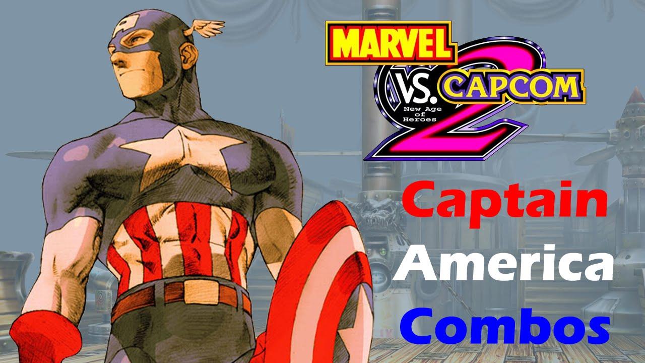 Marvel VS Capcom 2 - Captain America Combo Video - YouTube
