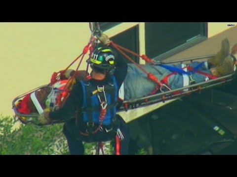 Watch: Firefighters' sky-high rescue of crane operator - HLN  - Zk_Ixwk9J7A -