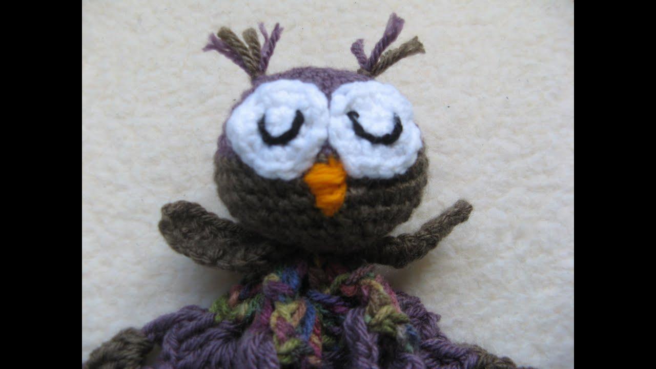 Cute Little Amigurumi Owl : How to crochet owl blanket lovie part one youtube