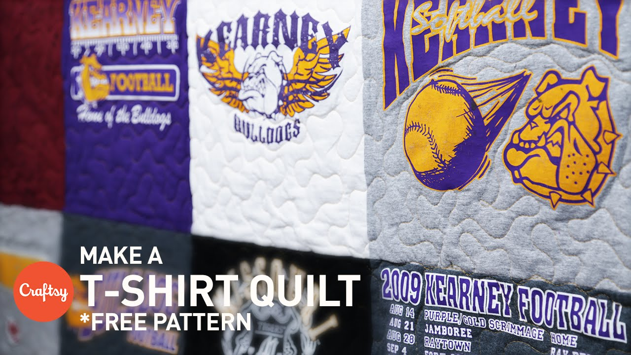 t shirt quilting step by step with free pattern craftsy quilting with angela walters youtube
