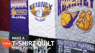 T-shirt quilting step-by-step (with free pattern) | Craftsy Quilting with Angela Walters