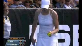 ASB Classic  2011 Semifinal: Greta ARN wins 1st set vs Julia GOERGES