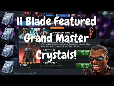 11 Blade Featured Grand Master Crystals! Dupe 5* Blade? - Marvel Contest Of Champions