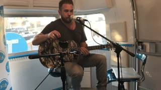 Kyle Jacobs in the 30A airstream! 30A Songwriters Festival 2017