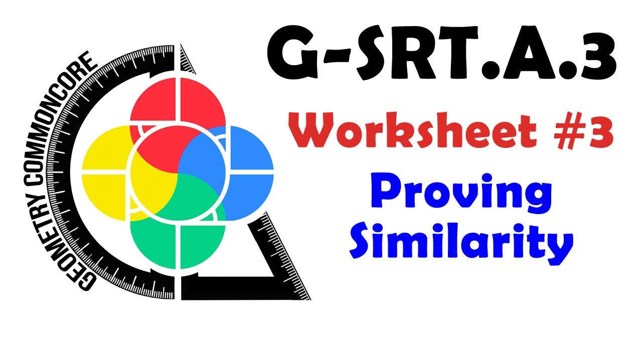 G-SRT.A.3 Worksheet #3 - Proving Similarity - YouTube