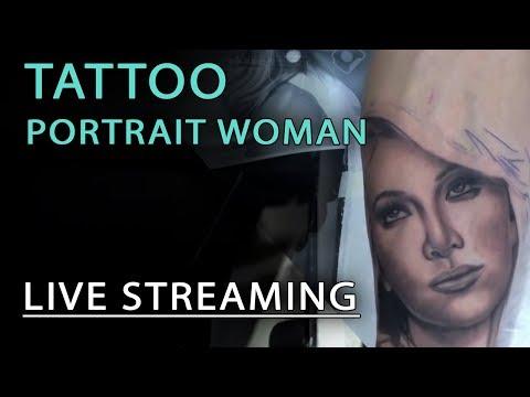 Tatuaggio Ritratto Donna live streaming