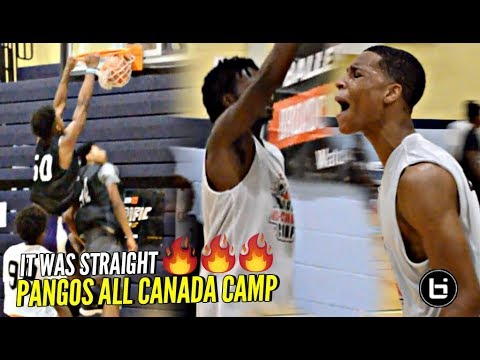 PLAYERS GET HEATED at Pangos All-Canada Camp!! Canada GOT HOOPERS Though!