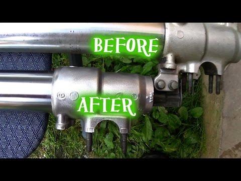 How to shine metal bike parts - tip