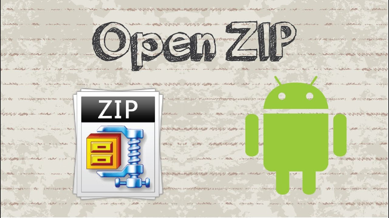 cannot open zip file android