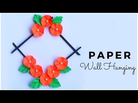 paper-flower-wall-hanging-craft-|-diy-home-decor-|-paper-wall-decor-idea