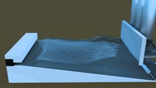 Blender fluid simulation - Wave pool