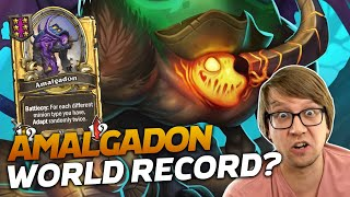 EIGHT AMALGADONS??? IS THIS A WORLD RECORD? | Hearthstone Battlegrounds | Savjz