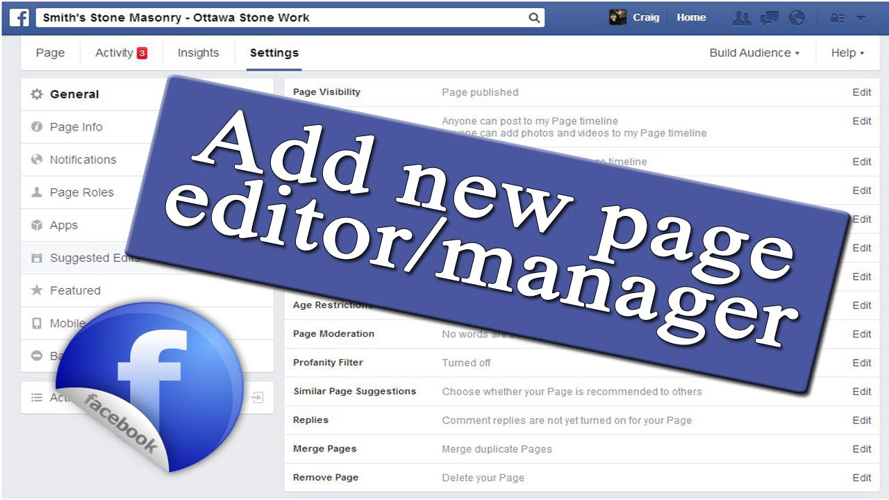 How To Add Manager To Facebook Business Page Delete A Facebook Page