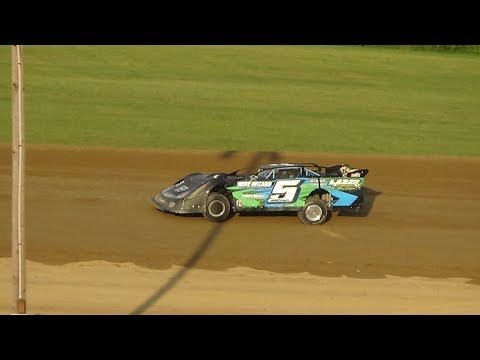 Late Model Heat Race #2 at Crystal Motor Speedway, Michigan on 07-22-2017.