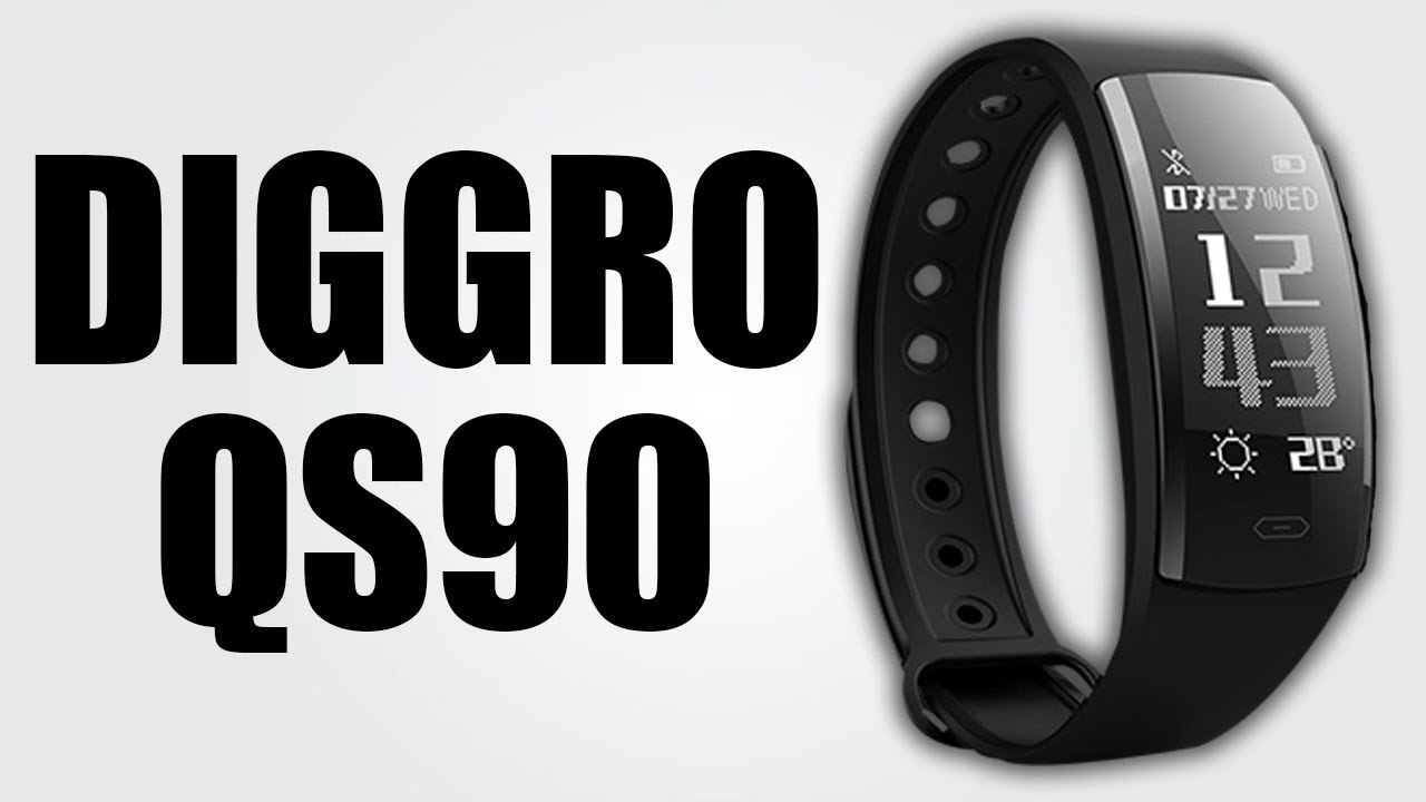 Diggro Qs90 Smart Wristband With 0 96 Inch Oled Display Get Real