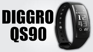 DIGGRO QS90 - Smart wristband with 0.96-inch OLED display / Get real-time weather updates