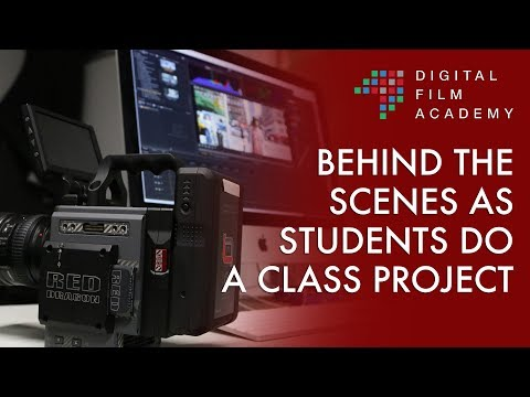 Digital Film Academy Students BTS of a Directing Class Lab