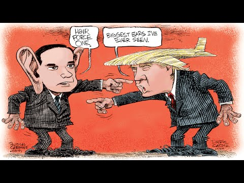 Part 2 of 2, Big Ears Rubio and Trump Hair Force One - YouTube