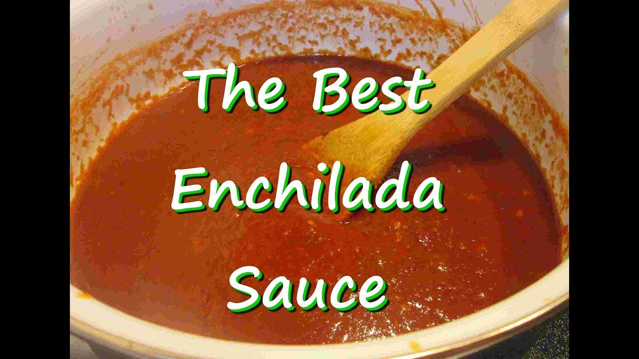 The Best Homemade Mexican Enchilada Sauce Easy Enchilada Sauce Recipe Youtube